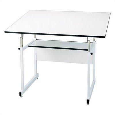 Alvin Home Office Art Drawing Crafting Drafting Hobby Center WorkMaster Jr. Table, White Base, White Top 31