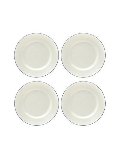 Prima Designs Set of 4 Painted Band Salad Plates, Multi