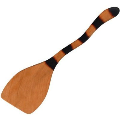 Spatula w/ Cat-Tail Handle USA In Wild Cherry Wood Right-Handed - Jonathan's Spoons #IWC-RH