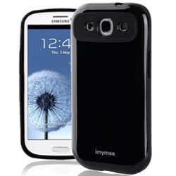 S3 Case, Double Layered Soft Cover, For Protect Samsung Galaxy S3 (At&T, Verizon, Sprint, T-Mobile) - Retail Packaging (Black)