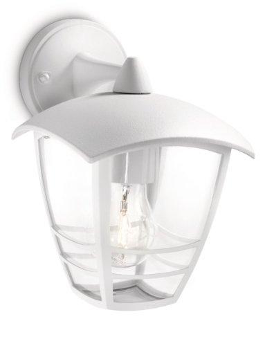 Philips Creek Lampada da Parete da Esterno, Lanterna Down, Alluminio, Bianco