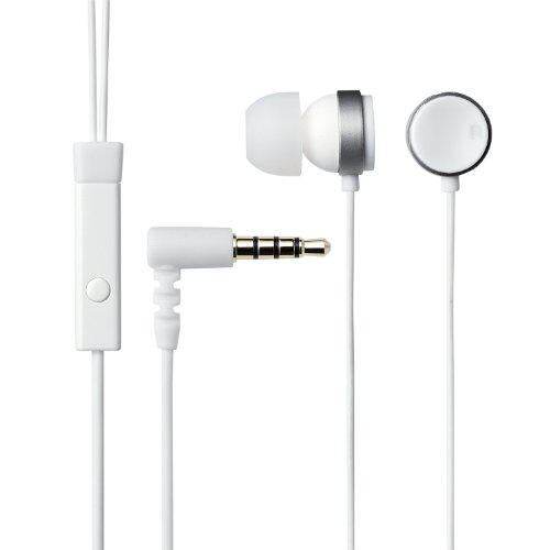 Elecom Canal Type Headphones With Microphone Iphone5/4S/4/3Gs/3G/Ipad/Ipod Corresponding Circular 1.2M White Ehp-Ipin100Wh (Japan Import)