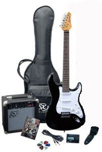 Electric Guitar Package SX RST BK w/GA1065 Black