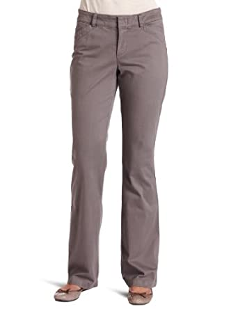 Dockers Women's The Khaki With Hello Smooth Pant, Smokey Slate, 4 M