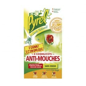 Anti mouches coquelicots lot de 6 jardin for Anti mouches maison
