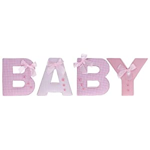 baby shower small pink baby fabric letters baby