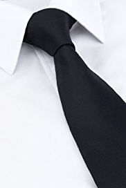 Longer Length Pure Silk Plain Tie