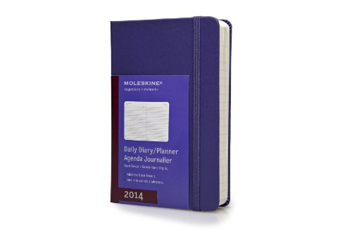 Moleskine 2014 Daily Planner, 12 Month, Pocket, Brilliant Violet, Hard Cover (3.5 x 5.5) (Planners & Datebooks)