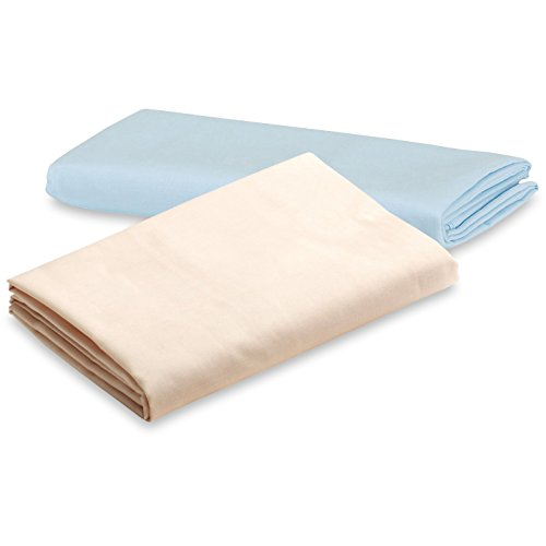 Discover Bargain Graco Pack 'n Play Playard Sheet, Blue/Cream, 2 Count