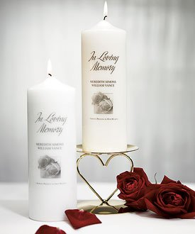 Personalized-Memorial-Pillar-Candle-White