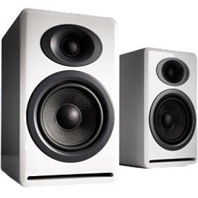 Audioengine P4 Premium Passive Bookshelf Speaker Pair (White)