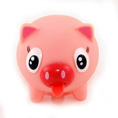 Squeezable Sounding Stretchy Tongue Pink Pig Tongue Call Bell Practical Joke front-600577