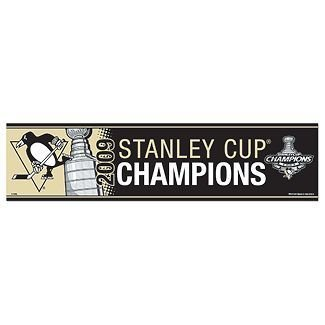 Pittsburgh Penguins 2009 NHL Stanley Cup Champions Black Bumper Sticker ()