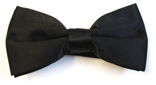 Black Bow Tie - Pre Tied
