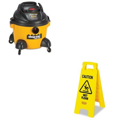 Kitrcp611277Ywsho9650610 - Value Kit - Shopvac Right Stuff Wet/Dry Vacuum (Sho9650610) And Rubbermaid Caution Wet Floor Floor Sign (Rcp611277Yw) front-468544