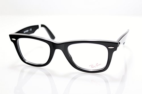 New Original Eyewear Ray Ban RB 5121 2000 Unisex Black Wayfarer Clear