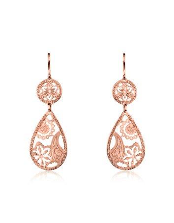 Rebecca Cashmere - Rose Gold Drop Earrings