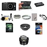 Olympus E-PM1 Digital Camera Black + 14-42mm II Black Lens + Accessories Bundle