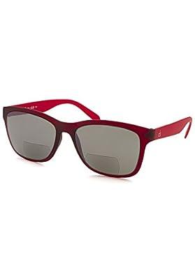 Calvin Klein Platinum CKR3171S-607-200 Deep Wine CKR3171S 2.00 Strength Bifocal Sunglasses