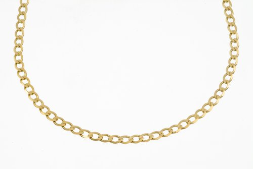 Necklace, 9ct Yellow Gold Curb Chain, 51cm Length, Model TGZ 080