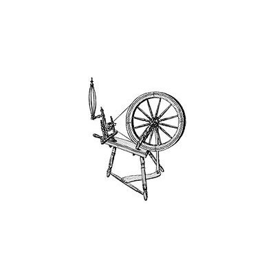 Large Spinning Wheel Plan (Woodworking Project Paper Plan)