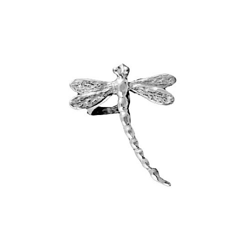 Sterling Silver Pierceless Right Only Dragonfly Ear Cuff