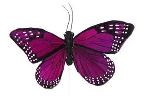 "Decorative Purple Butterfly 3"" Artificial Fake Butterflies 24 Pc New"