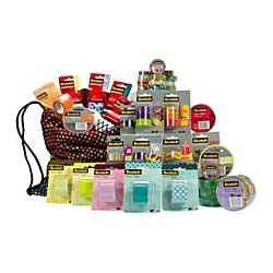 40-Pack Scotch Expressions Tape Kit - Assorted Sizes with Assorted Colors