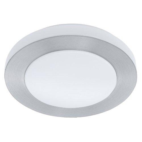 EGLO Wand-/ Deckenleuchte Carpi LED Stahl, Alu, Kunststoff, 12 W 860 lm inklusiv Leuchtmittel, austauschbar, nicht dimmbar, 30 cm x 7.5 cm, alu-gebürstet / weiß 93287