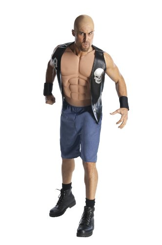 Wwe Adult Stone Cold Steve Austin Costume, Black/Blue, Standard