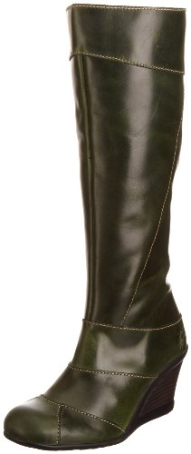 Fly London Women's Jelo Green Wedges Boots P142318001 5 UK