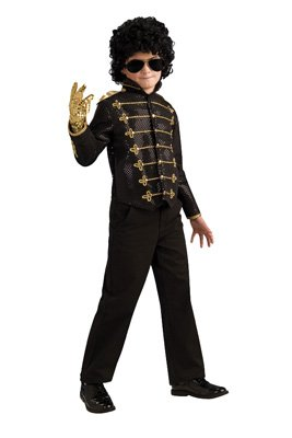 Deluxe Black Military Jacket Costume - Small