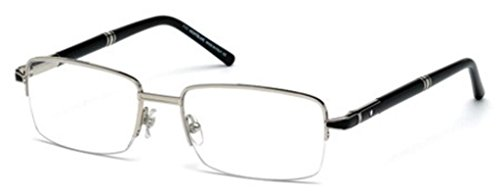 MONTBLANC MB 0488 Eyeglasses 016 Shiny Palladium