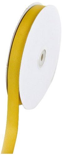 Creative Ideas 50-Yard Solid Grosgrain Ribbon, 5/8-Inch, Antique Gold front-634528