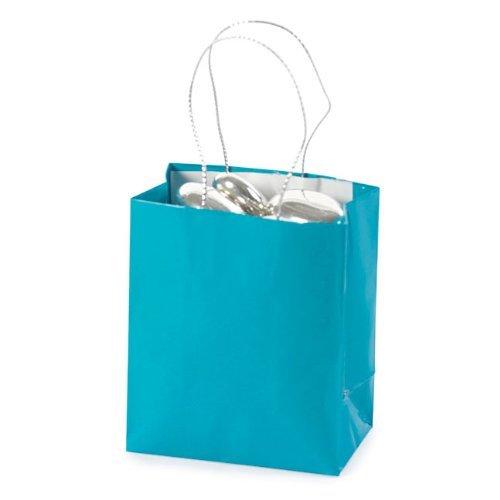 Fun Express Mini Turquoise Gift Bags (2 Dozen)