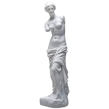 17.5 Inch Venus De Milo Ancient Greek Statue Figurine, White Color
