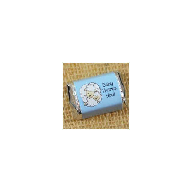 Boy Baby Shower Mini Candy Wrappers Lamb