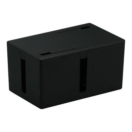 BUFFALO ケーブルボックス 電源タップ&ケーブル収容 Sサイズ ブラック BSTB01SBK