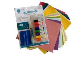 Silhouette Starter Pack including Self-Adhesive Vinyl, Cardstock, Sketch Pens, Tools & Download Card