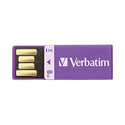Verbatim 8 GB Clip-it USB Flash Drive, Purple 43937