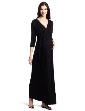 Everly Grey Women's Maternity Maternity Macy Dress, Black, X-Large