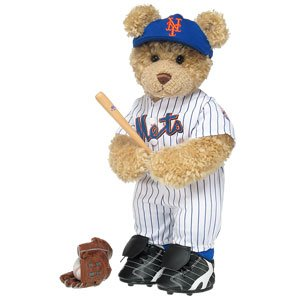 Build-A-Bear Workshop Curly Teddy in New York Mets™ Uniform