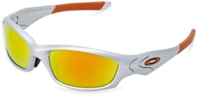 Oakley Straight Jacket Men's Asian Fit Active Authentic Sunglasses/Eyewear - Silver/Fire Iridium / One Size Fits All