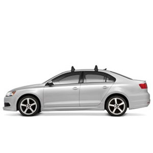 2012-2013 VW Volkswagen GLI MK6 & 2011-2014 Jetta MK6 Roof Base Carrier Bars OEM NEW (Roof Rack 2014 Vw Jetta compare prices)
