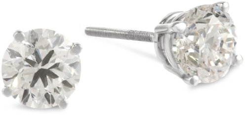 IGI Certified Platinum 4-Prong Diamond Stud Earrings