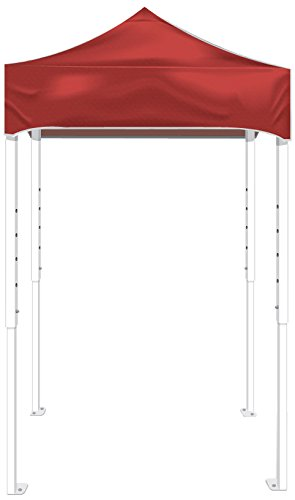 Kd Kanopy Ps25R Party Shade Steel Frame Indoor/Outdoor Portable Canopy, 5 By 5-Feet, Red