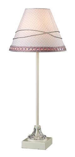 Sterling 111-1110 Pink Table Lamp With Pink And White Shade front-792430