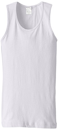 Clementine Big Girls' Everyday Wide Strap Tank Top, White, 14/16/Large
