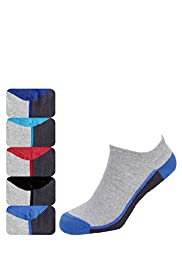 5 Pairs of Cotton Rich Trainer Liner Socks with Stay New&#8482; Technology