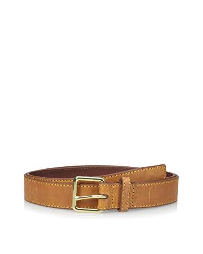 Isaac Mizrahi Men's Sorentino Leather Belt with Pop Stitch